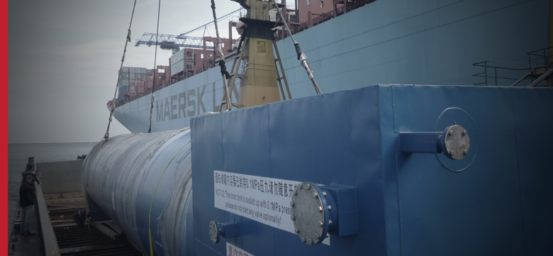 Oversized marine transport, OOG cargo on container ships, ro-ro, heavy-lift - tank from China