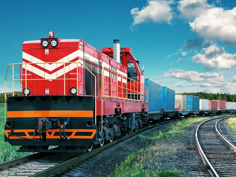 Import of Goods From China Train Using New Silk Road railway